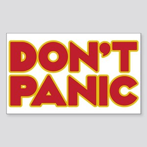 Don't Panic Sticker (rectangle)