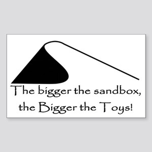 Bigger Sand Toys Rectangle Sticker