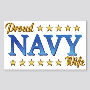 Proud Navy Wife Rectangle Sticker