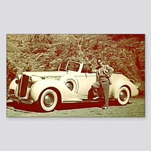 1938 Packard Sticker (Rectangle)
