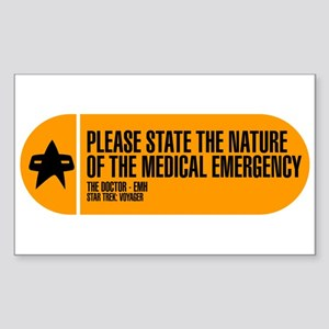 Nature of the Medical Emergency Sticker (Rectangle