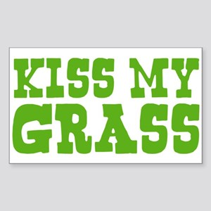 Kiss My Grass Gardening Rectangle Sticker
