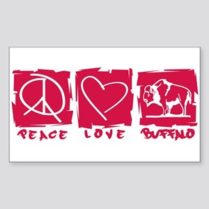 Peace.Love.Buffalo Sticker (Rectangle)