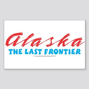 Alaska - Last frontier Sticker (Rectangle)