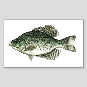 Black Crappie Fish Rectangle Sticker