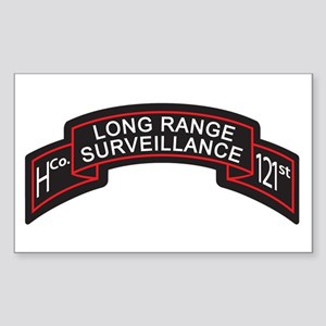 H Co 121st INF LRS Scroll Col Rectangle Sticker