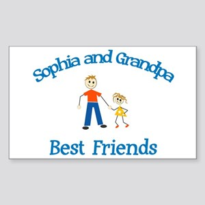 Sophia & Grandpa - Best Frien Sticker (Rectangular