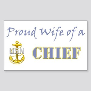 Proud Wife of a Chief Rectangle Sticker
