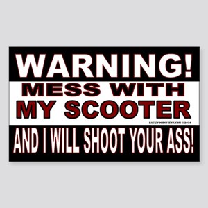 Warning Scooter Sticker (Rectangle)