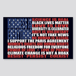 Political Protest American Flag Sticker