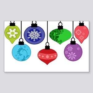 Christmas Ornaments Sticker (Rectangle)