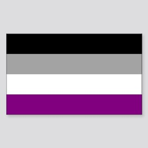 Asexual Pride Flag Sticker (Rectangle)
