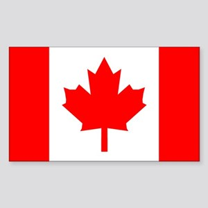 Canadian Flag Total Rectangle Sticker
