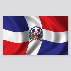 Flag of the Dominican Republic Sticker (Rectangle)