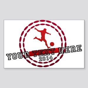 Personalized Sport Tag Sticker (Rectangle)