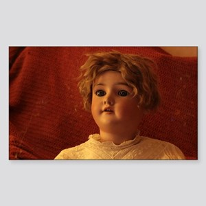 antique doll with lace blouse close up Sticker