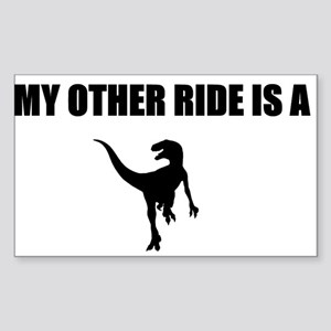 Other Ride is a Raptor Sticker (Rectangle)