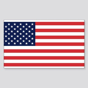 USA flag Rectangle Sticker