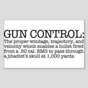 Gun Control Sticker (Rectangle)