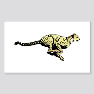 Yellow Cheetah with black dots Sticker