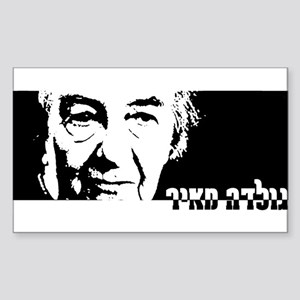 Golda Meir Rectangle Sticker )