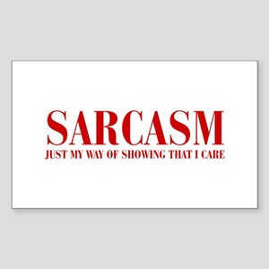 SARCASM-JUST-MY-WAY-BOD-RED Sticker