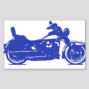 Motorcycle Blue Shadow Sticker