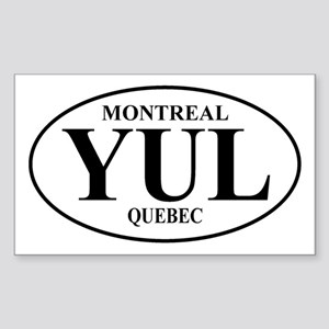 Montreal Rectangle Sticker