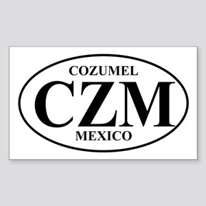 CZM Cozumel Rectangle Sticker