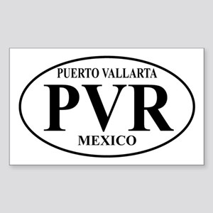 PVR Puerto Vallarta Rectangle Sticker