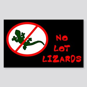 No Lot Lizards Rectangle Sticker