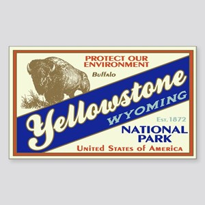 Yellowstone (Buffalo) Rectangle Sticker