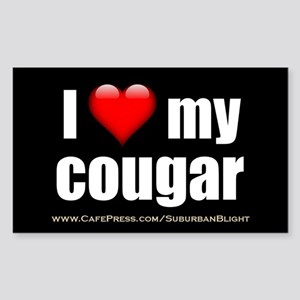 """I Love My Cougar"" Sticker (Rectangle)"
