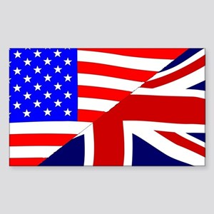 USA and UK Flags Sticker