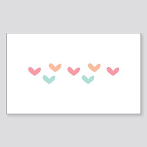 Hearts Border Sticker