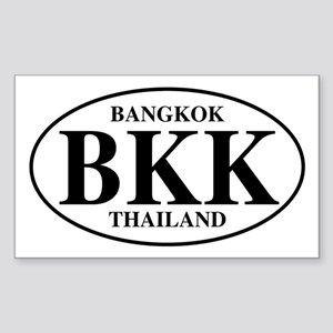 BKK Bangkok Rectangle Sticker