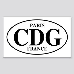 CDG Paris Rectangle Sticker