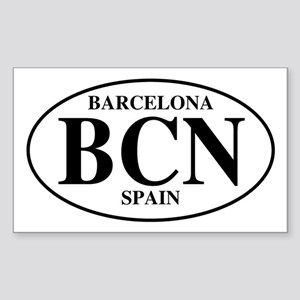 BCN Barcelona Rectangle Sticker