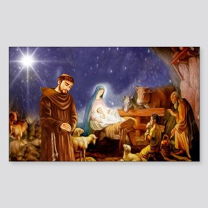 St. Francis Christmas #1 Sticker