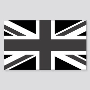 Union Jack - Black and White Sticker