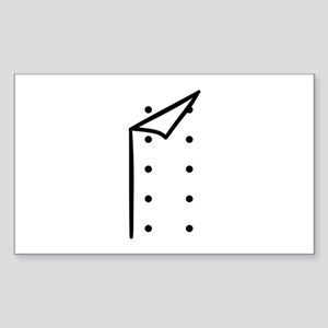 Chef uniform Sticker (Rectangle)