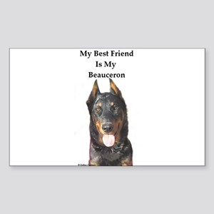 Beauceron Rectangle Sticker
