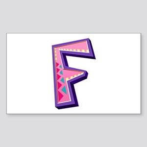 F Pink Giraffe Rectangle Sticker