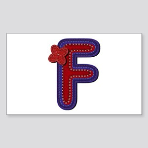 F Red Caps Rectangle Sticker
