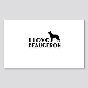 I Love Beauceron Sticker (Rectangle)