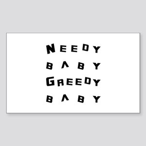 Needy Baby Greedy Baby Big Bang Theory Sticker (Re