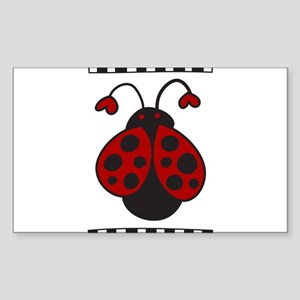 Ladybug Bug Sticker (Rectangle)