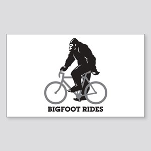 Bigfoot Rides Sticker (Rectangle)