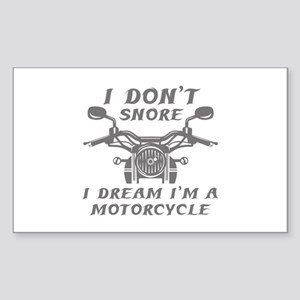 Motorcycle Rectangle Stickers - CafePress