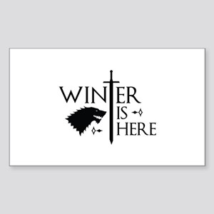 Winter Is Here Sticker (Rectangle)